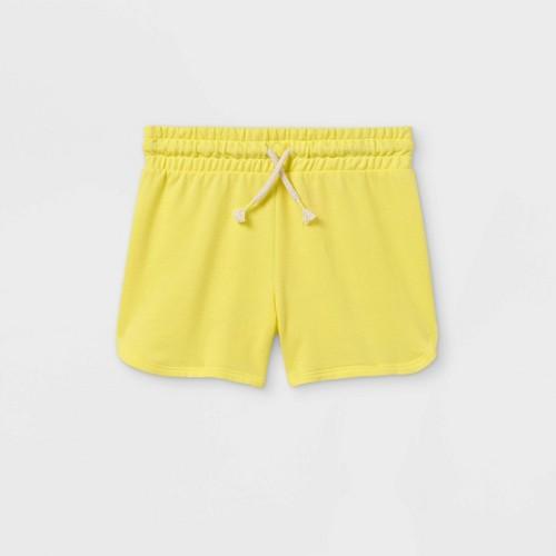 Girls Knit Pull On Shorts Cat Jack Yellow L