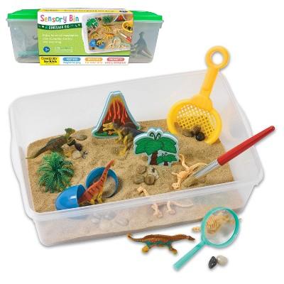 Dinosaur Dig Sensory Bin - Creativity for Kids