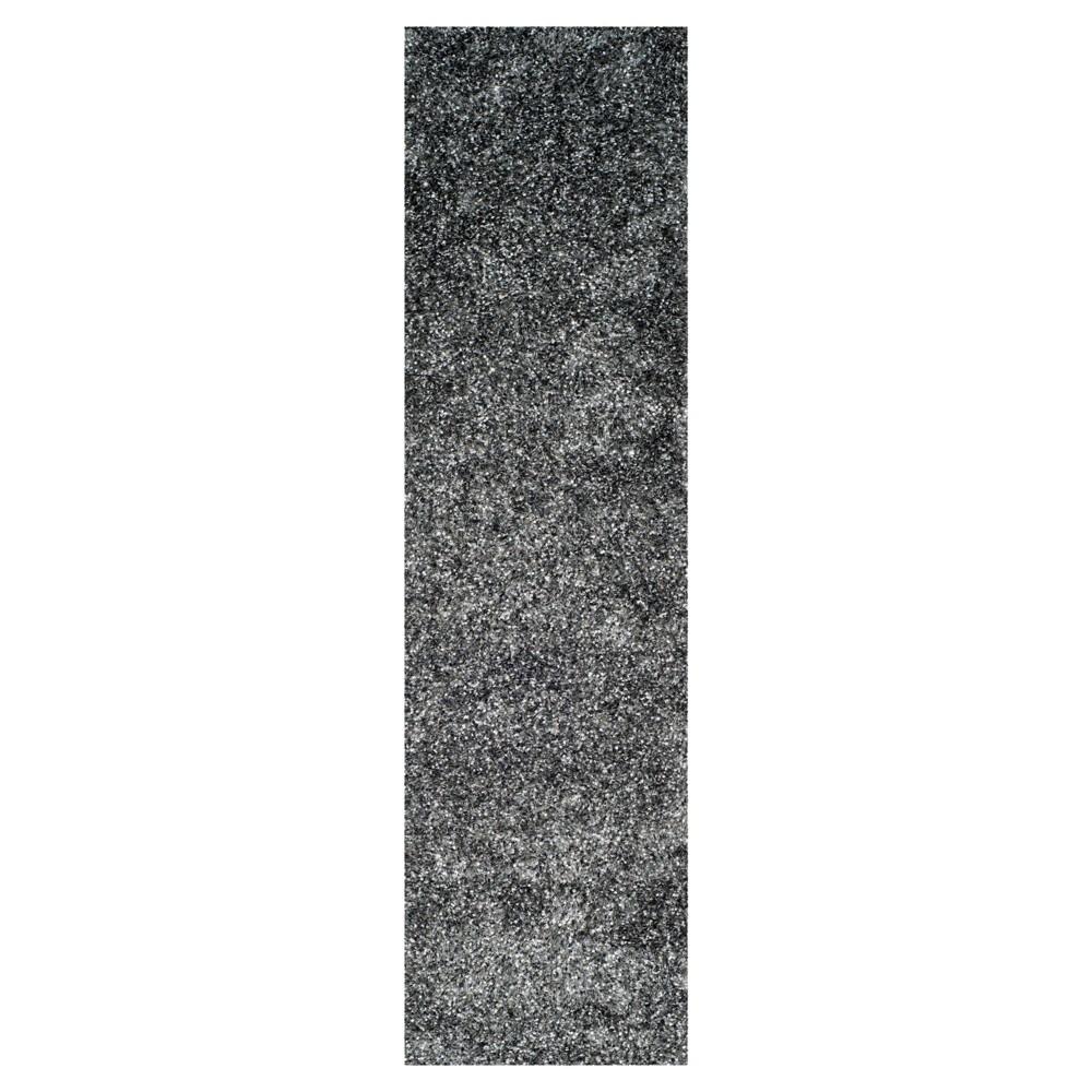Charcoal (Grey) Solid Tufted Runner - (2'3X9' Runner) - Safavieh