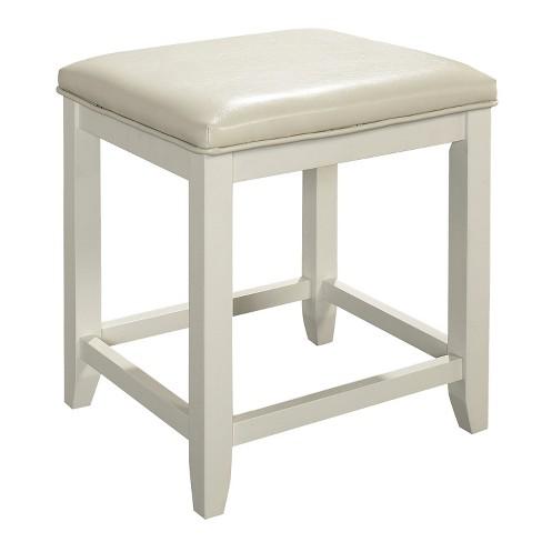 Crosley Furniture Vista Vanity Stool in Gray