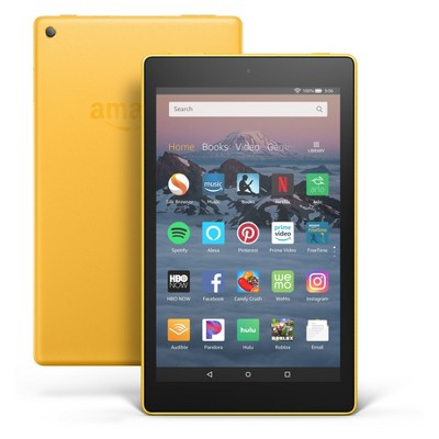 """Amazon Fire HD 8 Tablet 8"""" HD Display (8th Generation, 2018 Release)- Yellow - 32GB - (with Special Offers)"""