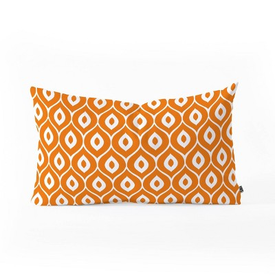Aimee St Hill Leela Orange Oblong Pillow Orange - Deny Designs