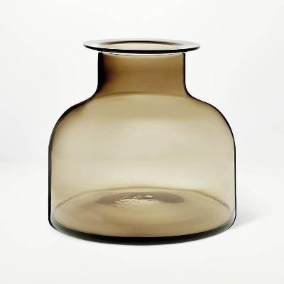 "9"" x 10"" Smoked Glass Vase - Threshold™ designed with Studio McGee"