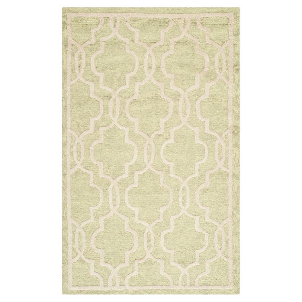 Langley Textured Rug - Light Green / Ivory (4' X 6') - Safavieh, Light Green/Ivory