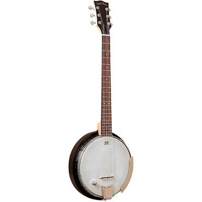 Gold Tone AC-6+/L Composite Left-Handed Acoustic-Electric Banjo Guitar With Gig Bag