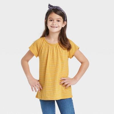 Girls' Short Sleeve Knit Top - Cat & Jack™
