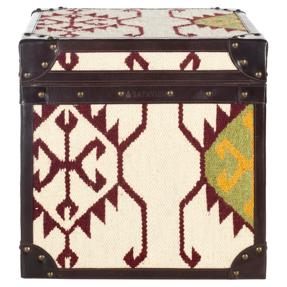Modern Nomad End Table Brown - Safavieh, Brown/Beige