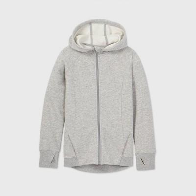 Girls' Fleece Full Zip Hoodie Sweatshirt - All in Motion™