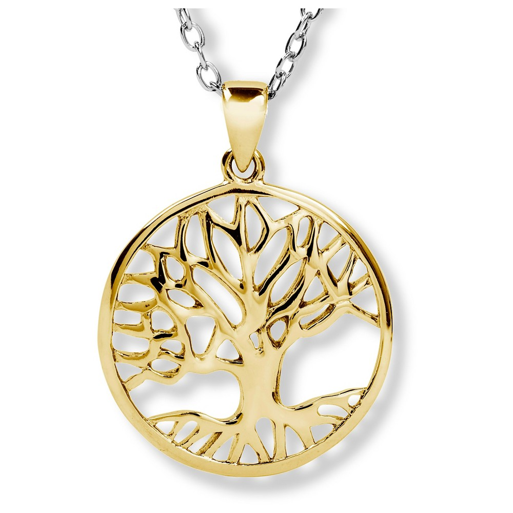 Elya Goldplated Stainless Steel Tree of Life Pendant, Girl's, Gold
