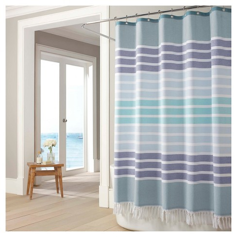 Bodrum Shower Curtain Blue Kassatex
