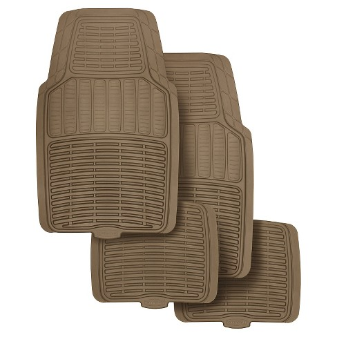Rubbermaid Rubber Floor Mats Tan 4pk - image 1 of 3