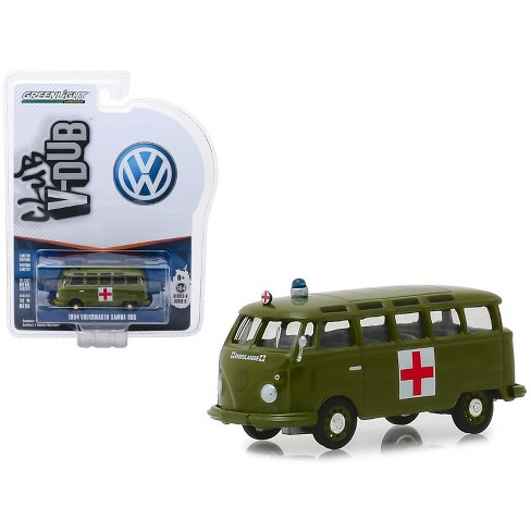 "1964 Volkswagen Samba Bus Army Ambulance Army Green ""Vee Dub"" Series 8 1/64 Diecast Model by Greenlight - image 1 of 1"