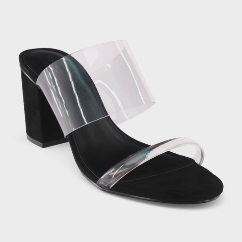 Women's Translucent Heeled Sandal Rumor Who What Wear - Clear - image 1 of 3