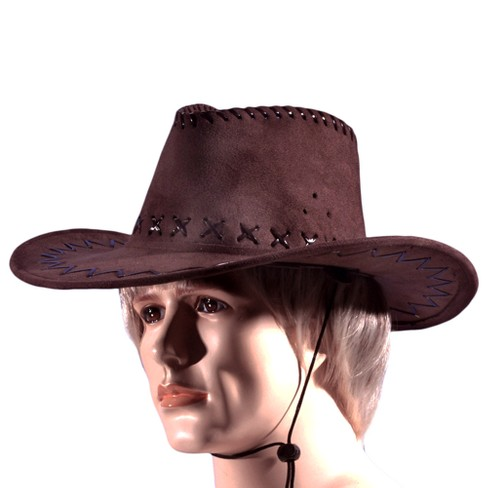 Men s Cowboy Hat Brown   Target 05ce0779b4d