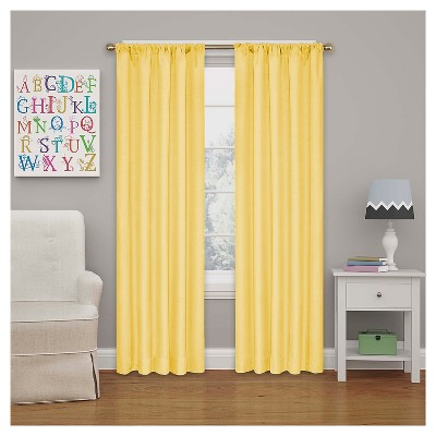 Kendall Blackout Thermaback Curtain Panel Yellow (42 x63 )- Eclipse My Scene