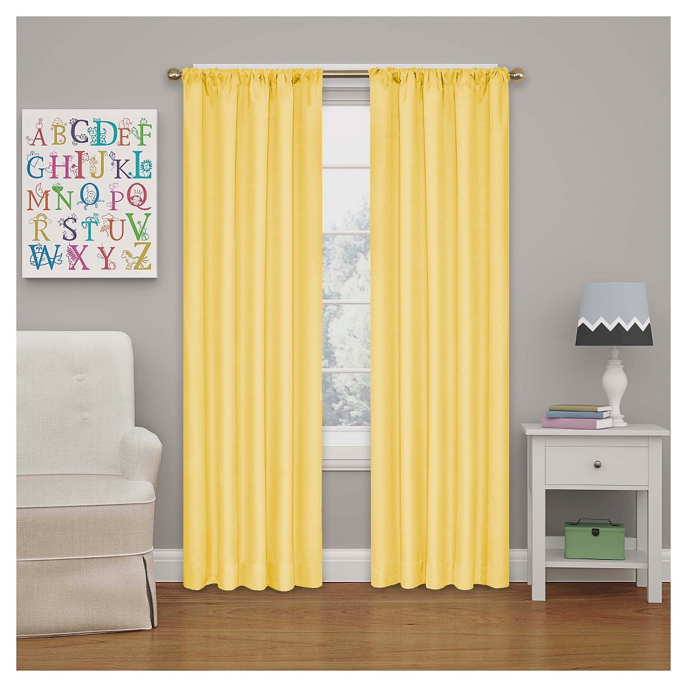 Kendall Blackout Thermaback Curtain Panel Yellow (42