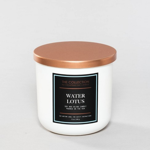12oz Glass Jar 2-Wick Candle Water Lotus - The Collection By Chesapeake Bay Candle - image 1 of 3