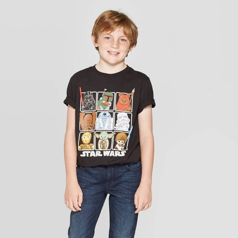Boys' Star Wars Short Sleeve T-Shirt - Black - image 1 of 3