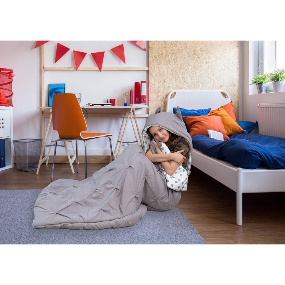 Twin Xl Nicki Sleeping Bag Gray Chic Home Design