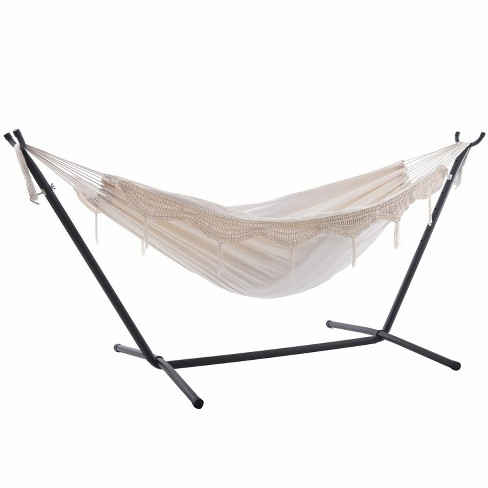 Vivere 9ft Double Cotton Hammock with Stand - image 1 of 4