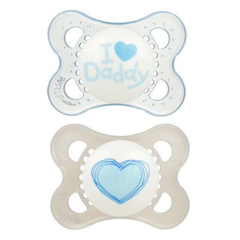MAM Love & Affection Pacifier 0-6 Months - 2ct Blue - image 1 of 2