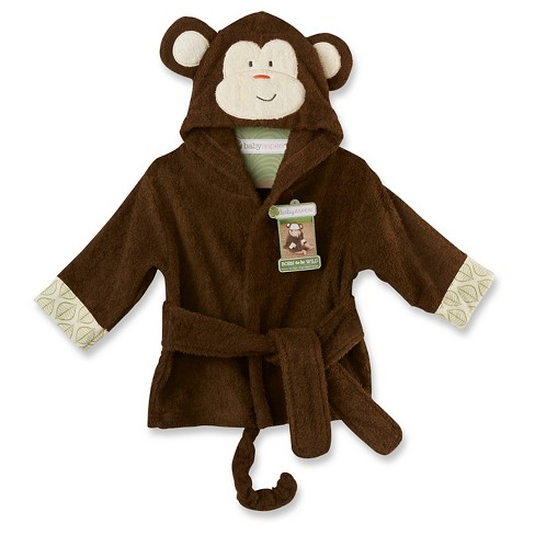 Baby Aspen Born to Be Wild Monkey Hooded Spa Robe - image 1 of 2