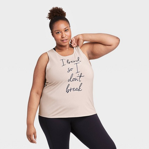 Women's Plus Size Active Graphic Tank Top - All in Motion™ - image 1 of 4
