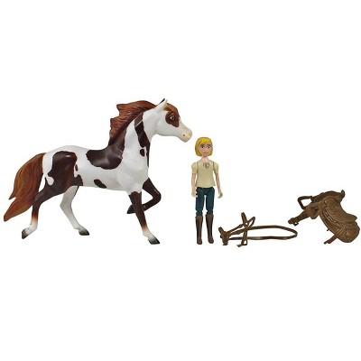 Breyer Animal Creations Breyer Spirit Riding Free Boomerang & Abigail Small Horse & Doll Set