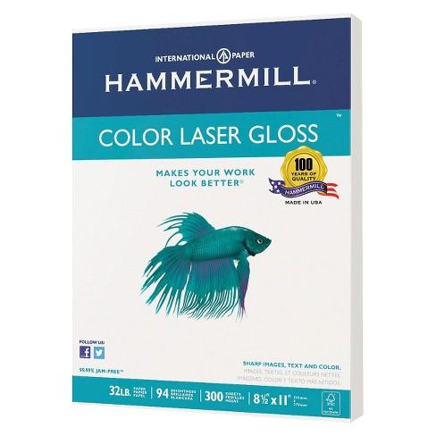 Hammermill color laser gloss paper 94 brightness 32 lb white hammermill color laser gloss paper 94 brightness 32 lb white 300 sheets per pack target wajeb Choice Image