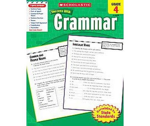 Scholastic Success With Grammar, Grade 4 (Paperback) - image 1 of 1