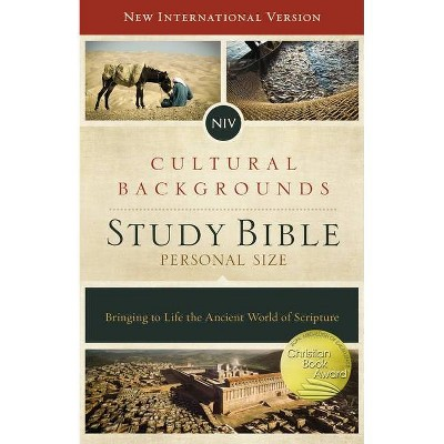 NIV, Cultural Backgrounds Study Bible, Personal Size, Hardcover, Red Letter Edition - by  Zondervan