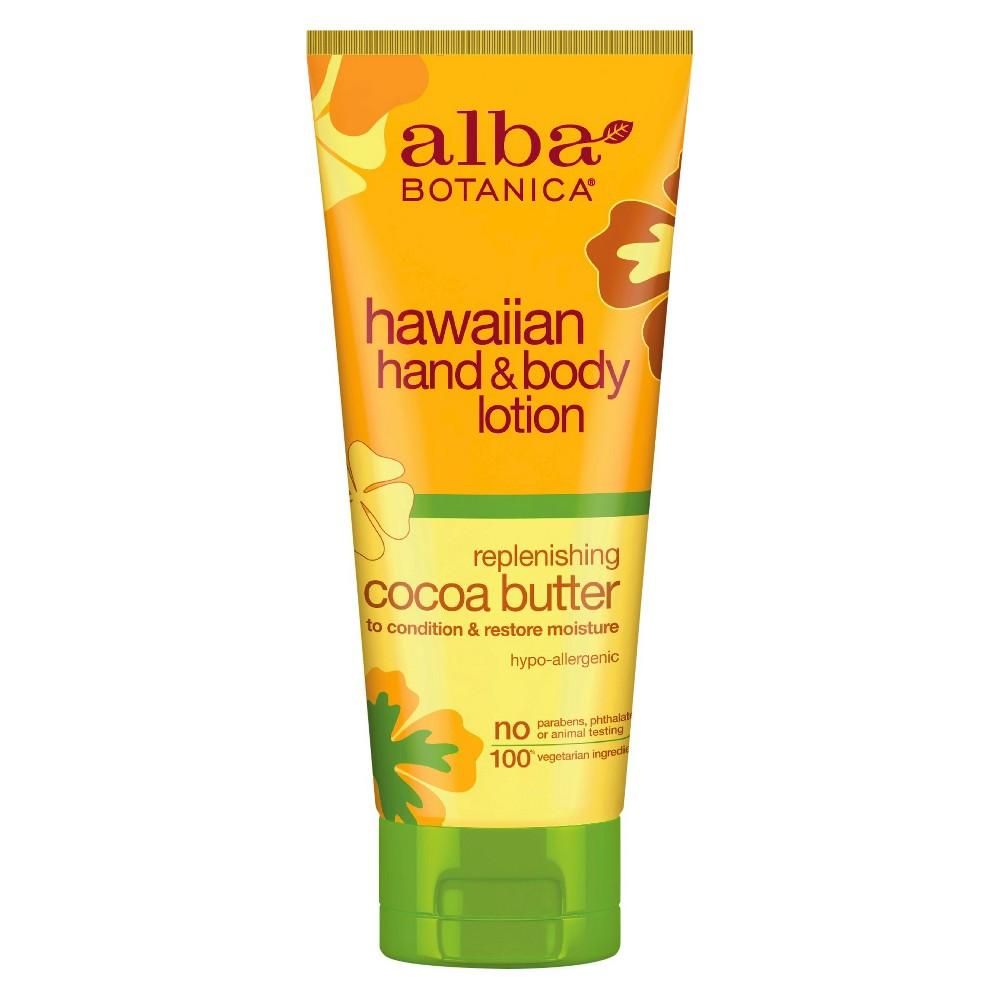 Alba Botanica Cocoa Butter Hand & Body Lotion- 7 oz