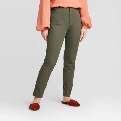 Women's High-Rise Skinny Ankle Pants - A New Day™ Olive 16