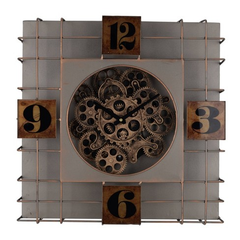 Menifee Wall Clock Gray - A&B Home - image 1 of 1