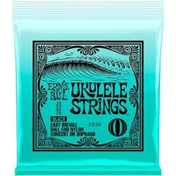 Ernie Ball Concert/Soprano Nylon Ball-End Ukulele Strings - Black Soprano/Concert