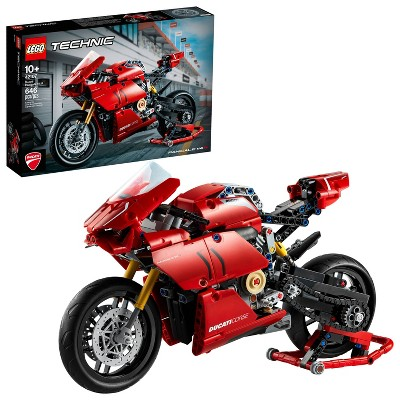 LEGO Technic Ducati Panigale V4 R Motorcycle Toy Building Kit 42107