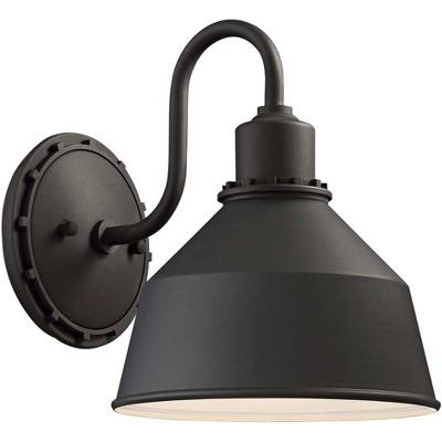"""Minka Lavery Mantiel 9 3/4"""" High Black Outdoor Wall Light"""