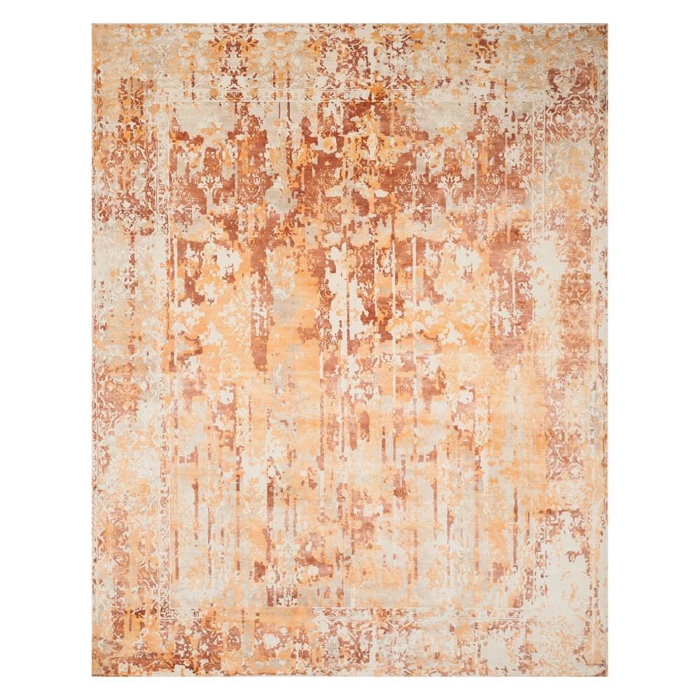 8'X10' Spacedye Design Area Rug Ivory/Rust (Ivory/Red) - Safavieh