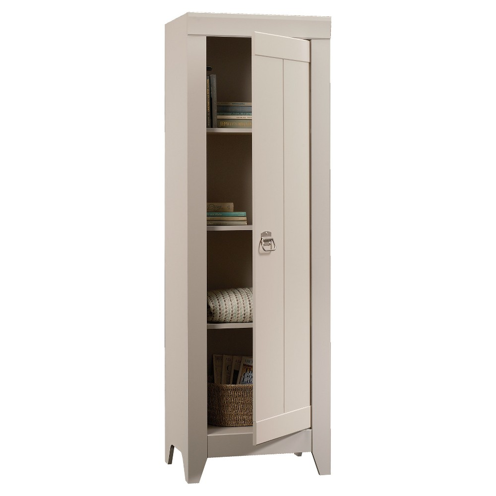 Image of Adept Narrow Storage Cabinet - Cobblestone - Sauder, Brown