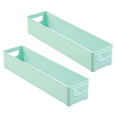 mDesign Kitchen Storage Bin for Breast Milk/Formula, Food, 2 Pack