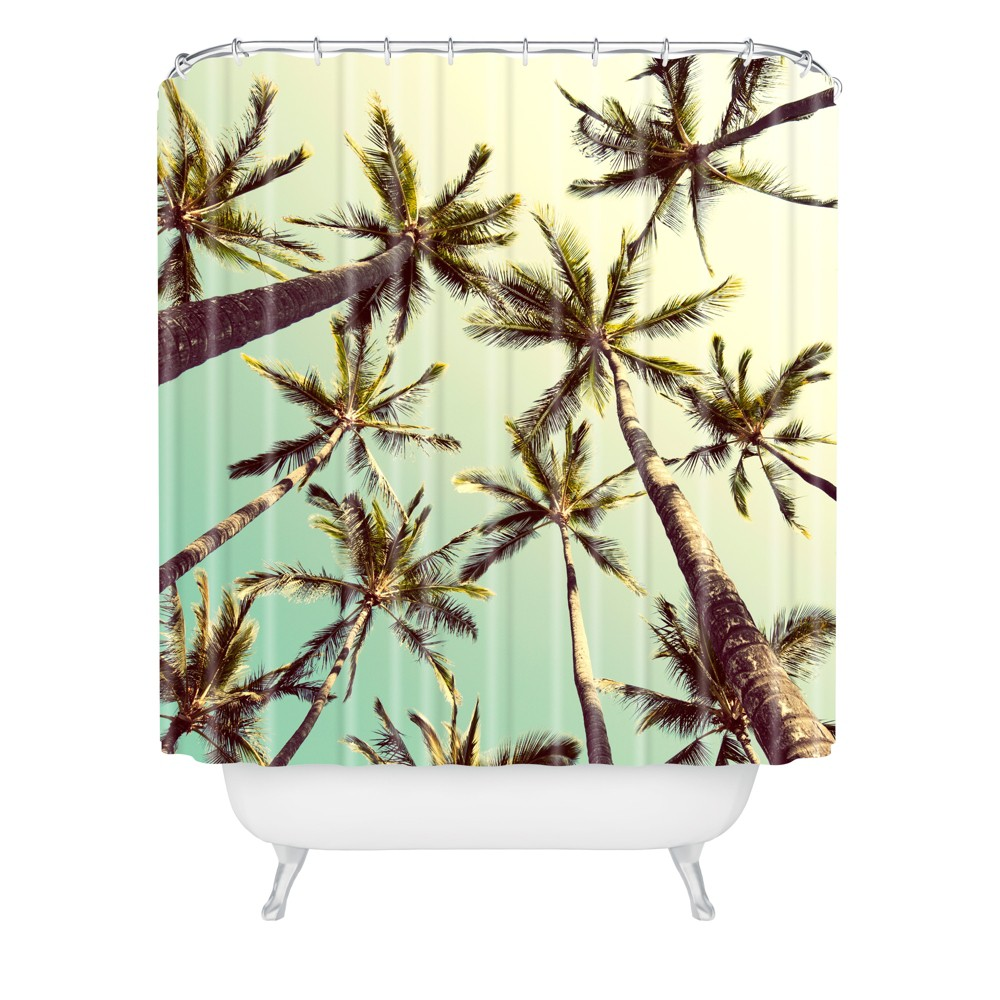 Sway Shower Curtain Green - Deny Designs