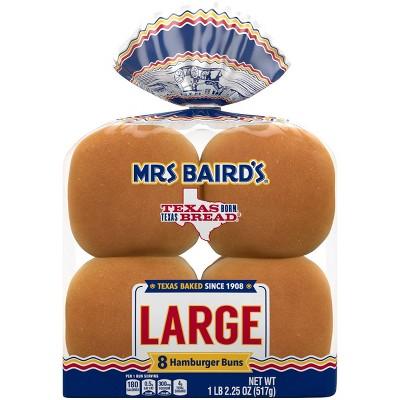 Mrs. Baird's Large Hamburger Buns - 18.25oz