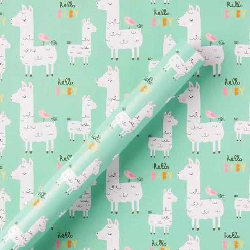 Llama Hello Baby Gift Roll Wrap