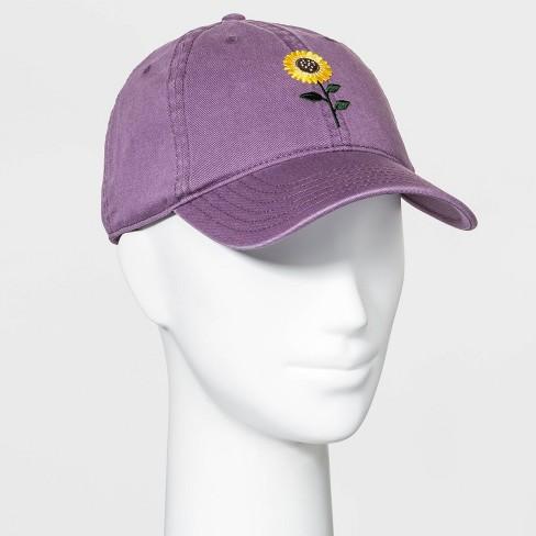 Mighty Fine Women's Sunflower Baseball Hat - Purple One Size - image 1 of 2