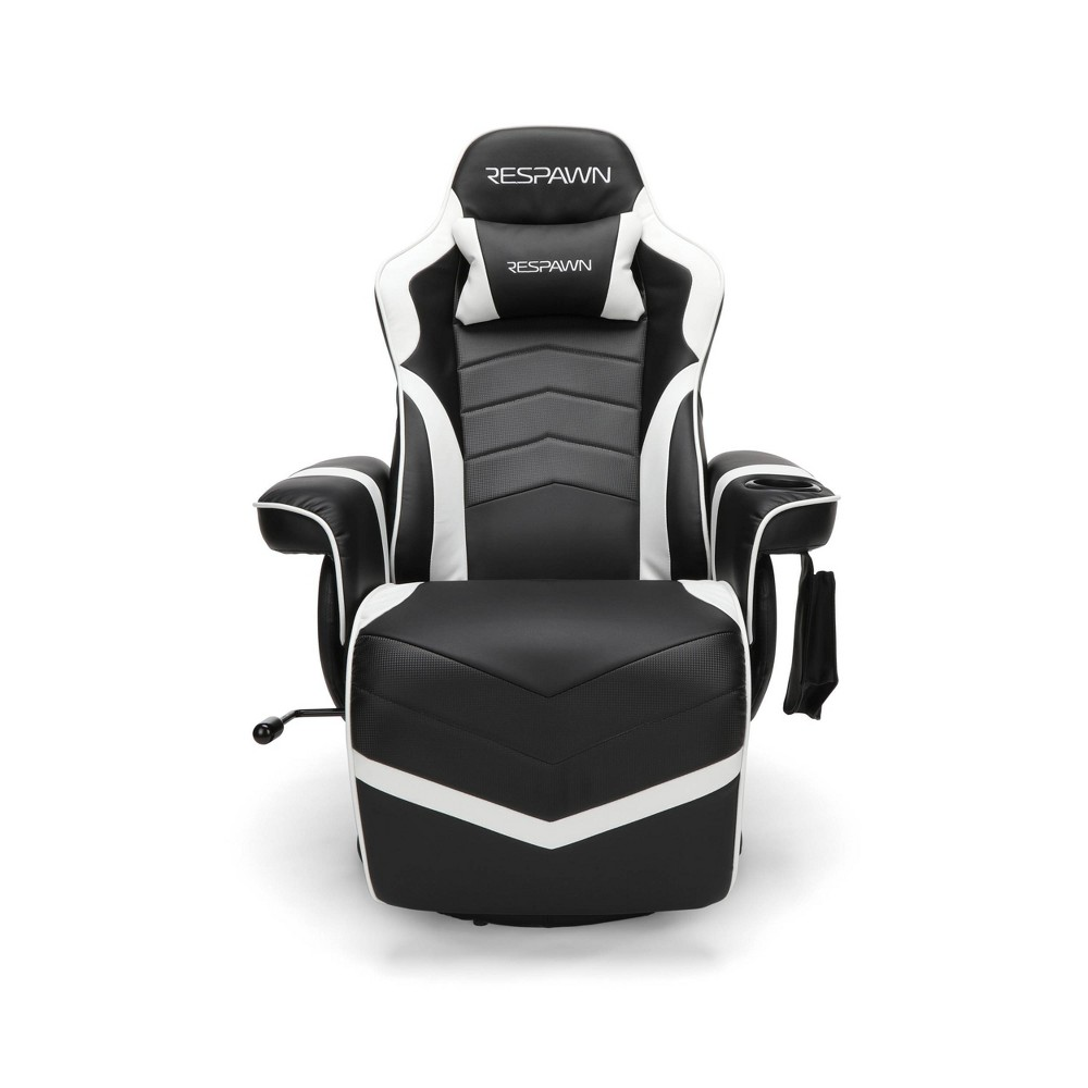 Image of Racing Style Gaming Recliner Chair White - RESPAWN