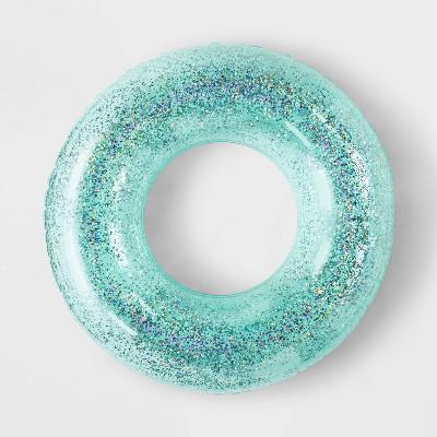 Glitter Tube Pool Float Blue - Sun Squad™