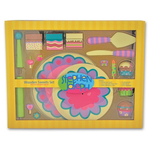 Stephen Joseph Wooden Play Sweets Set - image 1 of 2