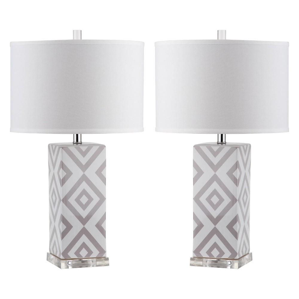 Parker Table Lamp (Set Of 2) - Gray - Safavieh
