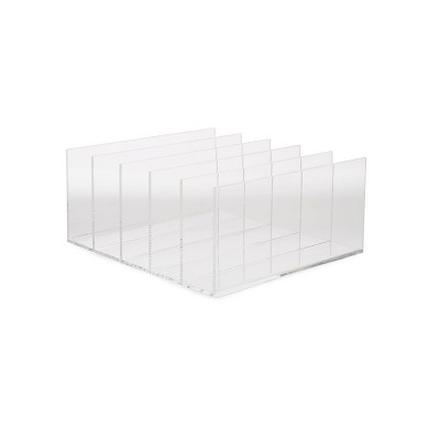 Mind Reader 5 Compartment Vertical Acrylic File Holder Clear
