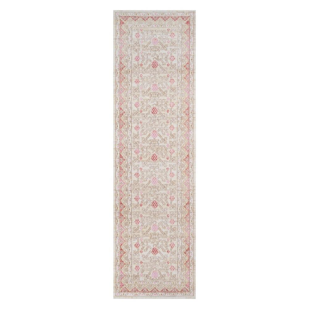 27X8 Floral Loomed Runner Pink - Momeni Best